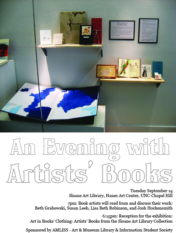 flier for AMLISS book reading